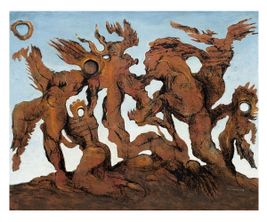 Fake Max Ernst painting by Wolfgang Beltracci, titled La Horde (1927) © VBK Wien 2010
